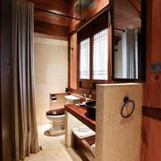 中式风格大户型卫生间浴帘效果图赏析