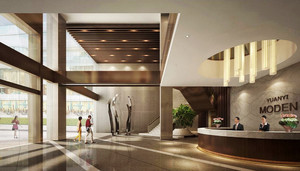225平米现代风格写字楼大厅装修效果图鉴赏