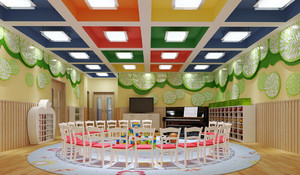 95平米现代风格幼儿园游戏室装修效果图鉴赏