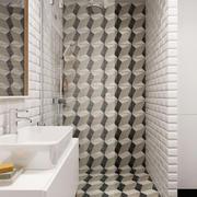 16平米北欧风格卫生间墙砖装修效果图鉴赏