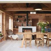 122平米北欧风格开放式餐厅装修效果图赏析