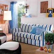 地中海风格小户型客厅创意书柜设计效果图赏析