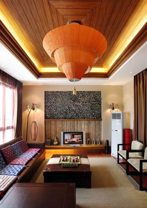 东南亚风格别墅室内整体装修效果图鉴赏