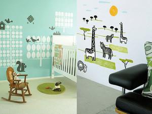 欧式风格三居室儿童房创意墙贴效果图赏析