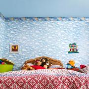 25平米现代风格儿童房墙纸装修效果图鉴赏