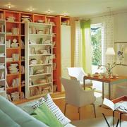 85平米韩式风格客厅精致书架设计效果图赏析