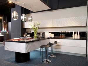 后现代风格大户型厨房吧台设计效果图赏析