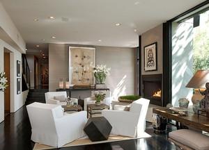 后现代风格别墅室内整体装修效果图鉴赏