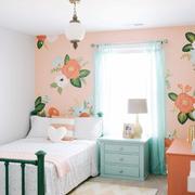 简欧风格三居室儿童房墙纸设计装修效果图鉴赏
