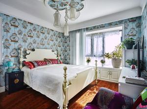 美式风格大户型卧室墙纸设计效果图赏析