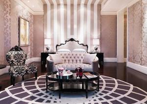 欧式风格二居室卧室背景墙设计效果图鉴赏