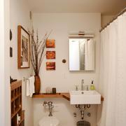 日式风格单身公寓卫生间洗手盆效果图赏析