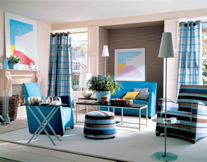 简欧风格小户型客厅窗帘效果图赏析