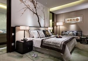 110平米后现代风格卧室卫生间隔断设计效果图鉴赏