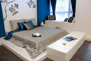 27平米现代风格卧室飘窗设计效果图鉴赏