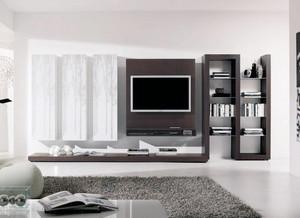 100平米现代简约风格客厅电视柜设计效果图鉴赏