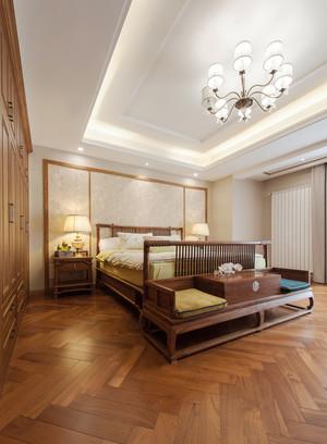 30平米中式风格卧室背景墙设计效果图赏析