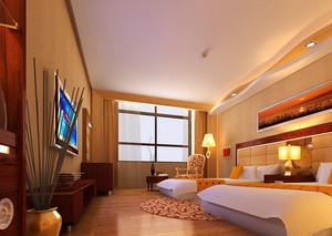 32平米现代风格宾馆房间装修效果图鉴赏