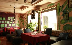 120平米东南亚风格咖啡厅装修效果图鉴赏