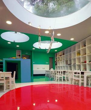 115平米现代简约风格幼儿园室内装修效果图赏析