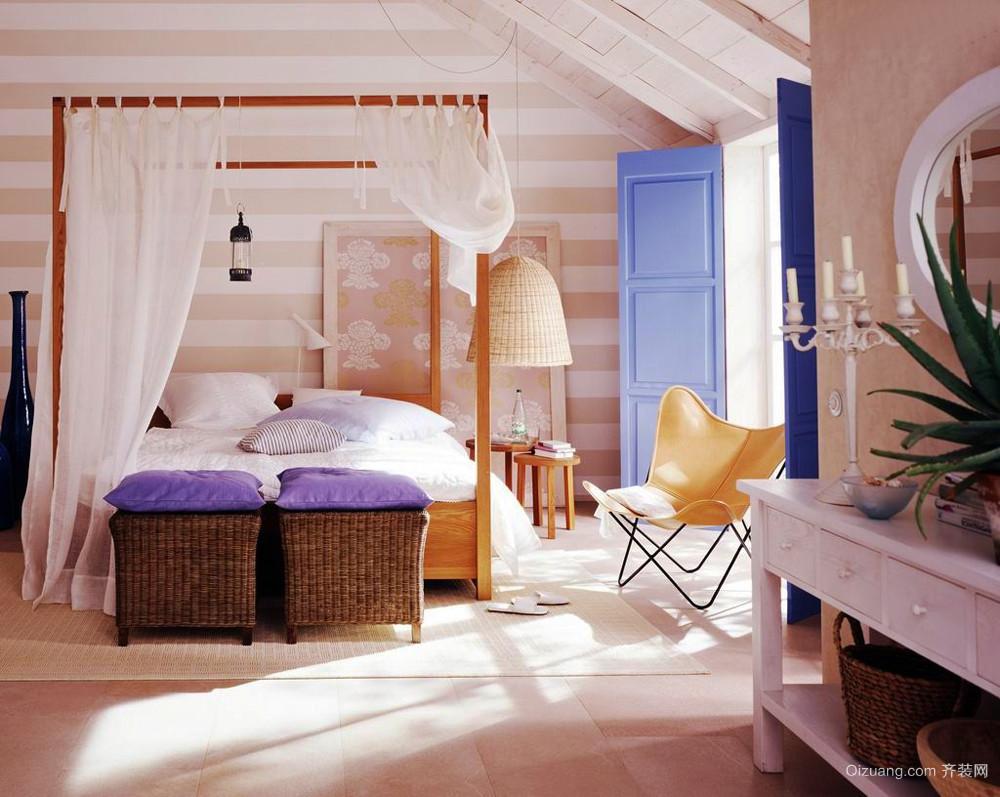 136平米北欧风格阁楼卧室设计装修效果图赏析