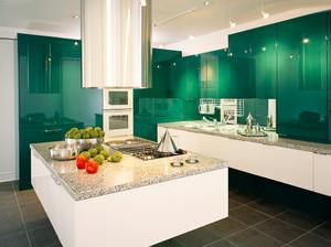 现代简约风格大户型开放式厨房装修效果图赏析