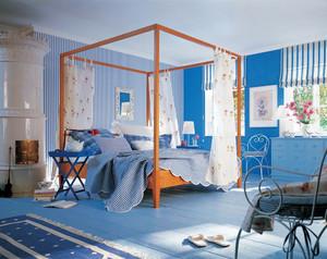 29平米地中海风格卧室背景墙装修设计效果图鉴赏