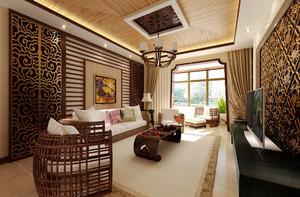 东南亚风格三居室室内装修效果图赏析