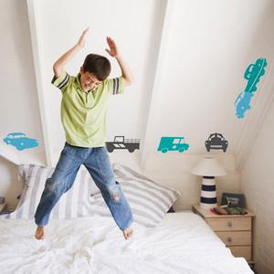 现代简约风格二居室儿童房创意墙贴效果图赏析