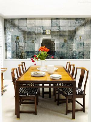 后现代风格二居室餐厅背景墙设计效果图赏析