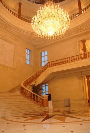 欧式风格别墅室内水晶灯效果图赏析