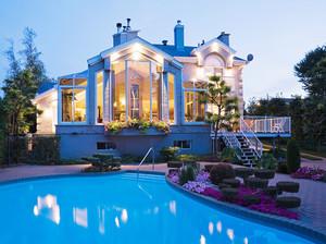 欧式风格别墅室外游泳池装修设计效果图鉴赏