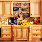 152平米欧式风格厨房橱柜设计效果图赏析