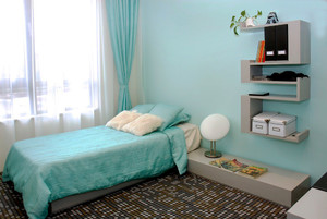 都市小清新风格小户型卧室地砖效果图赏析