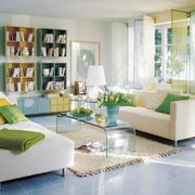 现代简约风格小户型客厅书架设计效果图鉴赏