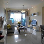 现代简约风格小户型客厅兼阳台设计效果图赏析