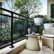 现代风格别墅阳台设计装修效果图赏析