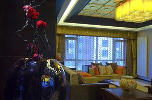 中式风格两居室室内装修效果图鉴赏