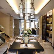 中式风格复式楼餐厅吊灯效果图鉴赏