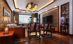 中式风格三居室室内装修设计效果图鉴赏