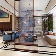 120平米中式风格客厅隔断设计效果图赏析