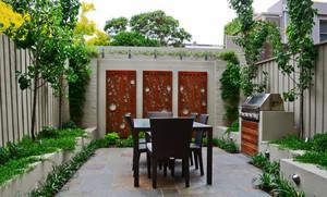 中式风格自建别墅入户花园设计效果图鉴赏
