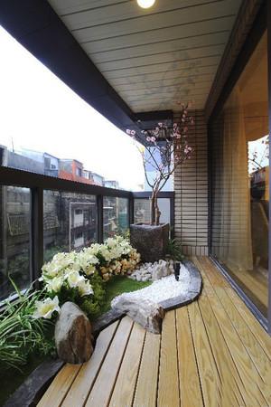 中式风格大户型花园阳台设计效果图赏析