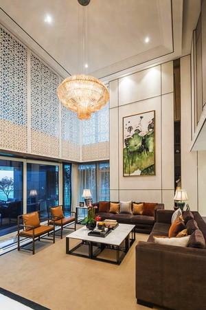 中式风格别墅中空客厅吊顶效果图赏析