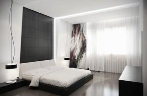北欧风格单身公寓中性冷色卧室装修效果图赏析