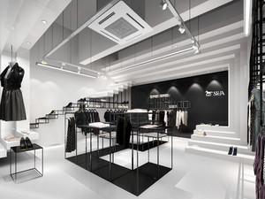 88平米后现代风格服装店面装修效果图赏析