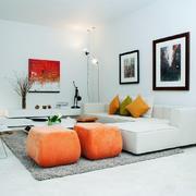 37平米北欧风格客厅沙发背景墙设计效果图赏析