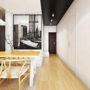 70平米北欧风格餐厅背景墙设计装修效果图赏析