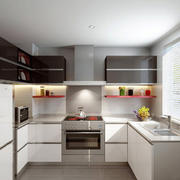 100平米现代简约风格厨房橱柜设计效果图赏析
