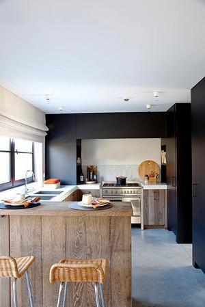 后现代风格大户型开放式厨房吧台设计效果图赏析
